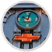 Chevy Times Square Clock Round Beach Towel