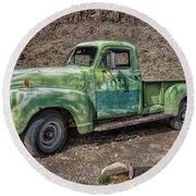 Chevy Truck Route 66 Round Beach Towel
