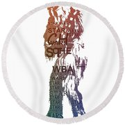 Chewbacca Typography Round Beach Towel