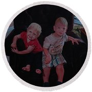 Cheyenne And Kai Round Beach Towel