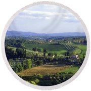 Chianti Region In Italy Round Beach Towel by Gregory Ochocki and Photo Researchers
