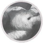 Chiaroscuro - Torso Round Beach Towel