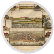 Chicago 1779-1857 Round Beach Towel