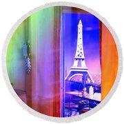 Chicago Art Institute Miniature Paris Room Pa Prismatic 08 Vertical Round Beach Towel