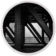 Chicago Bridge Round Beach Towel