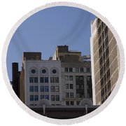 Chicago Buildings Round Beach Towel