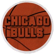 Chicago Bulls Leather Art Round Beach Towel