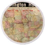 Chicago, Burlington Route System Map, 1892. Round Beach Towel