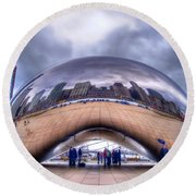 Chicago Cloud Gate Round Beach Towel