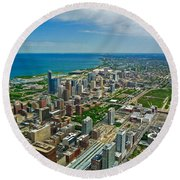 Chicago East View Round Beach Towel
