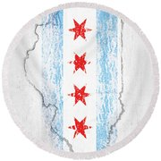 Chicago Flag Round Beach Towel
