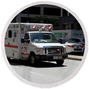 Chicago Fire Department Ems Ambulance 35 Round Beach Towel