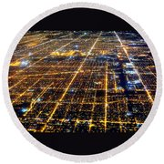 Chicago From Above 2 Round Beach Towel