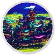 Chicago Gold Coast Abstract Round Beach Towel