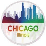 Chicago Il Round Beach Towel