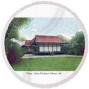 Chicago - Japanese Tea Houses - Jackson Park - 1912 Round Beach Towel