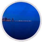 Chicago Lakefront Ultra Wide Hd Round Beach Towel
