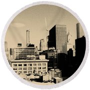 Chicago Loop Skyline Round Beach Towel