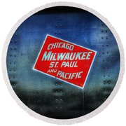 Chicago Milwaukee St. Paul And Pacific Round Beach Towel