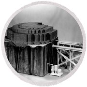 Chicago Pile-1, Scale Model Round Beach Towel