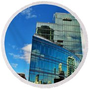 Chicago Reflection  Round Beach Towel
