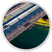 Chicago River Crossing Round Beach Towel