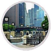 Chicago River Walk Invites You Round Beach Towel