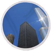 Chicago Skyscrapers  4 Round Beach Towel