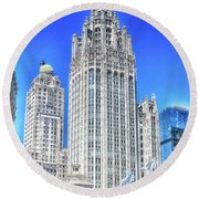 Chicago The Gothic Tribune Tower Round Beach Towel