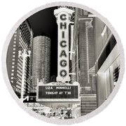 Chicago Theater - 2 Round Beach Towel