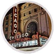 Chicago Theatre Round Beach Towel