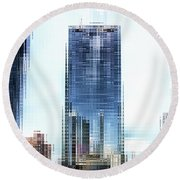 Chicago Under Construction On The River 02 Pa Round Beach Towel