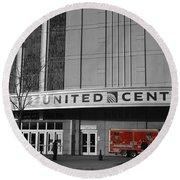 Chicago United Center Signage Sc Round Beach Towel
