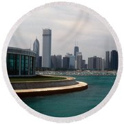 Chicago Waterfront Round Beach Towel