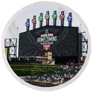 Chicago White Sox Home Coming Weekend Scoreboard Round Beach Towel