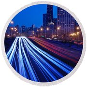 Chicagos Lake Shore Drive Round Beach Towel