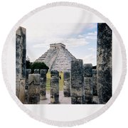 Chichen Itza 3 Round Beach Towel