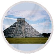 Chichen Itza 4 Round Beach Towel
