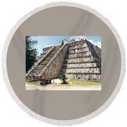 Chichen Itza Mexico 4 Round Beach Towel