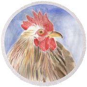 Chicken Round Beach Towel