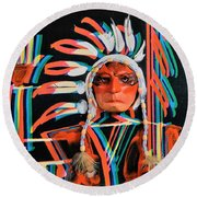 Chief Brill Yount Round Beach Towel
