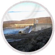Chief Joseph Dam Round Beach Towel