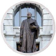 Chief Justice Edward Douglas White Statue- Nola Round Beach Towel