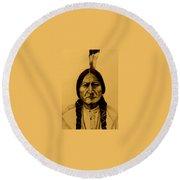 Chief Sitting Bull  Tatanka Iyotake Round Beach Towel