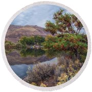 Chief Timothy Reflections Round Beach Towel