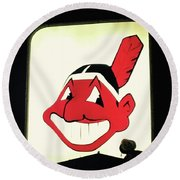 Chief Wahoo  Round Beach Towel