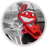 Chief Wahoo Sluggin Round Beach Towel