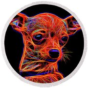 Chihuahua Dog Round Beach Towel