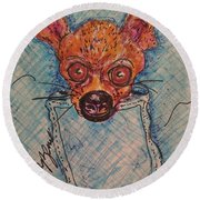 Chihuahua In A Pocket Round Beach Towel