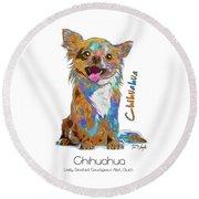 Chihuahua Pop Art Round Beach Towel